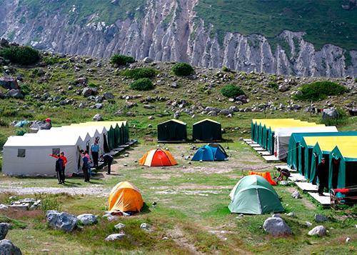 проживание в каркасных палатках